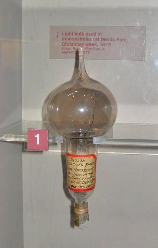 Thomas Alva Edison's First Light Bulb, December 1879