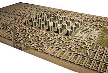 The idea of the architect Le Corbusier