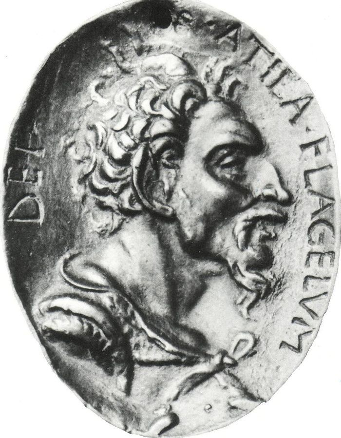 Attila, the king of the Huns, was known like The Scourge of God