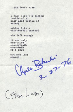 The last years in the life of Charles Bukowski